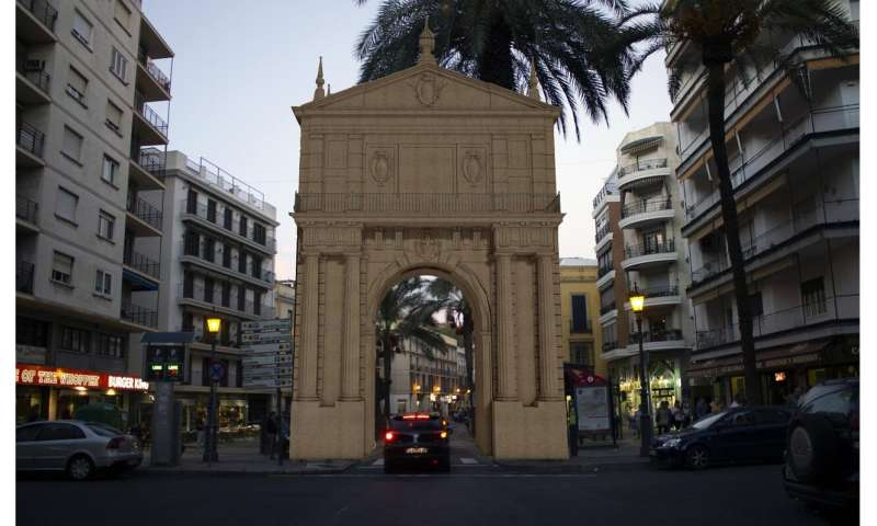 Architects have recreated the Puerta de Triana (Triana Gate) in Seville