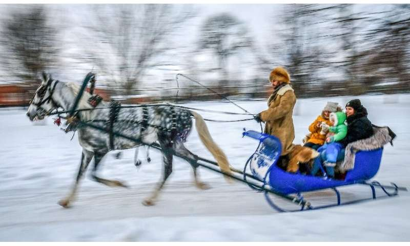 A reindeer-drawn sleigh ride is one way to enjoy Russia in winter