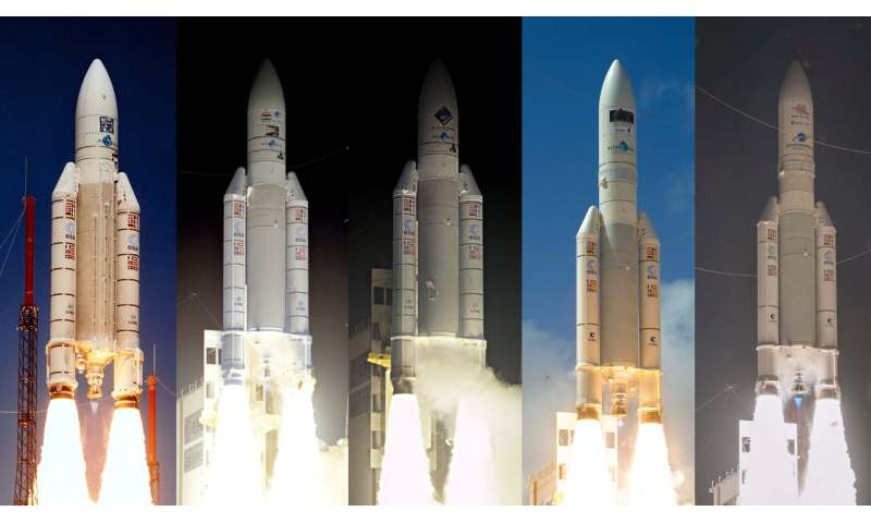 Ariane 5 launches with science missions onboard
