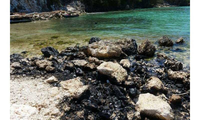 Around 75 tonnes of heavy fuel oil have leaked into the sea amid failed salvage attempts
