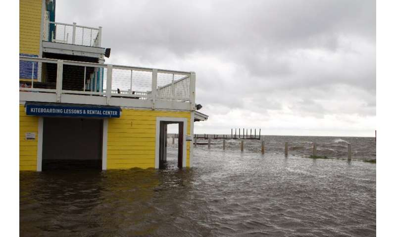A shop floods in Rodanthe Sound as Hurricane Dorian hits Cape Hatteras