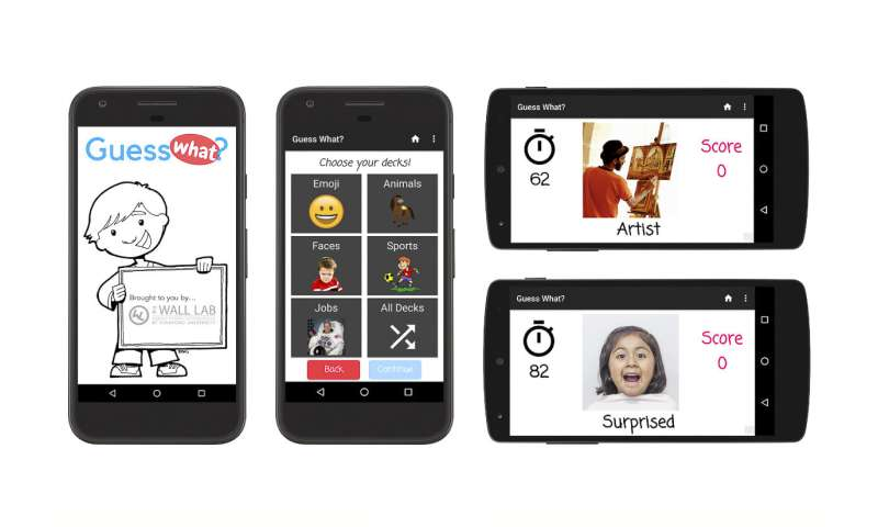 A smartphone app to treat and track autism