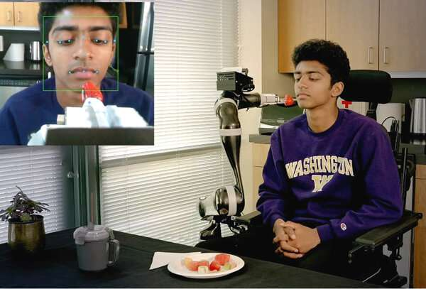 Assistive robot learns to feed