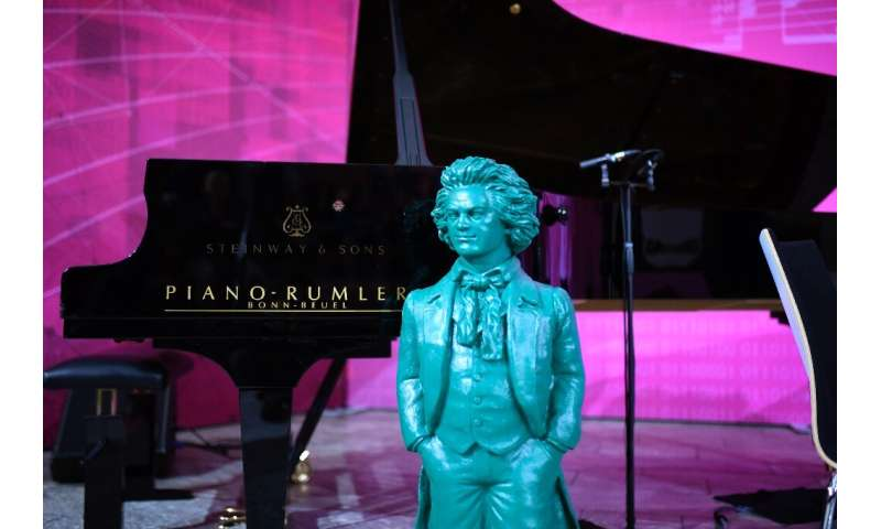 A statue of Beethoven—Germany's most famous musical figure—by German artist Ottmar Hoerl