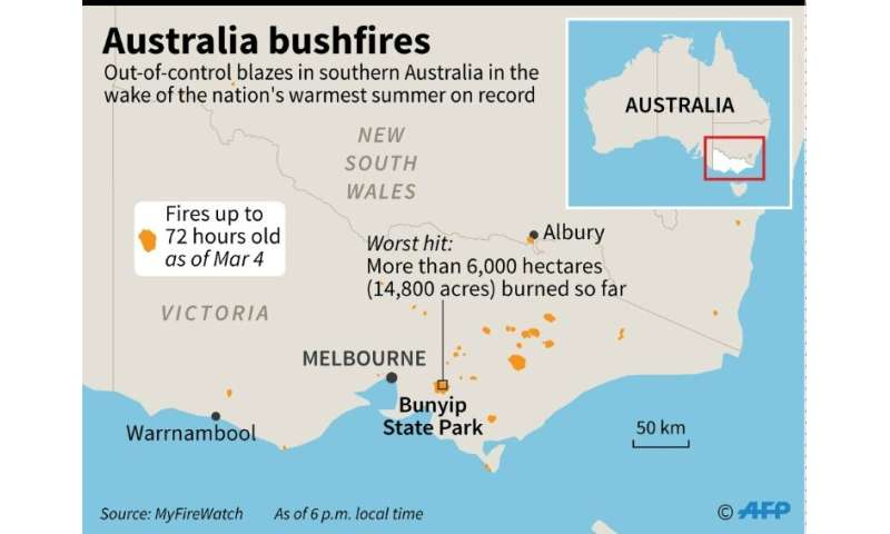 Bushfires rage after Australia\'s hottest summer on record