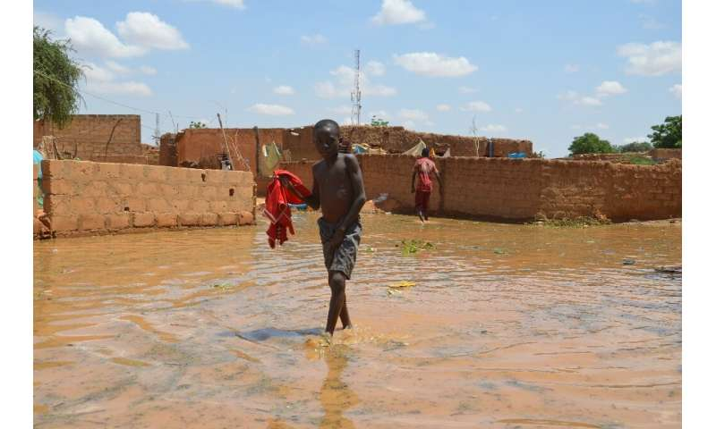 Authorities trigged a 'red alert' as water rose to 6.38 metres (21 feet) in Niamey