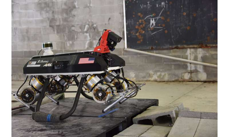 Autonomous quadruped designed to team with Soldiers