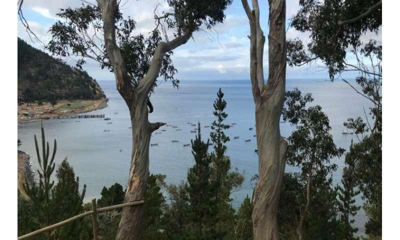 A view of the hard to reach town of San Juan Bautista, on Robinson Crusoe Island, in the Juan Fernandez Islands, 700 kilometers