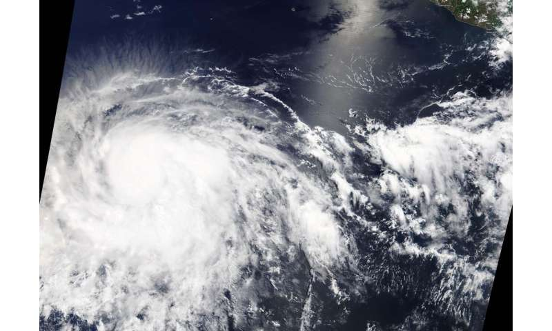 Barbara now a major hurricane on NASA satellite imagery
