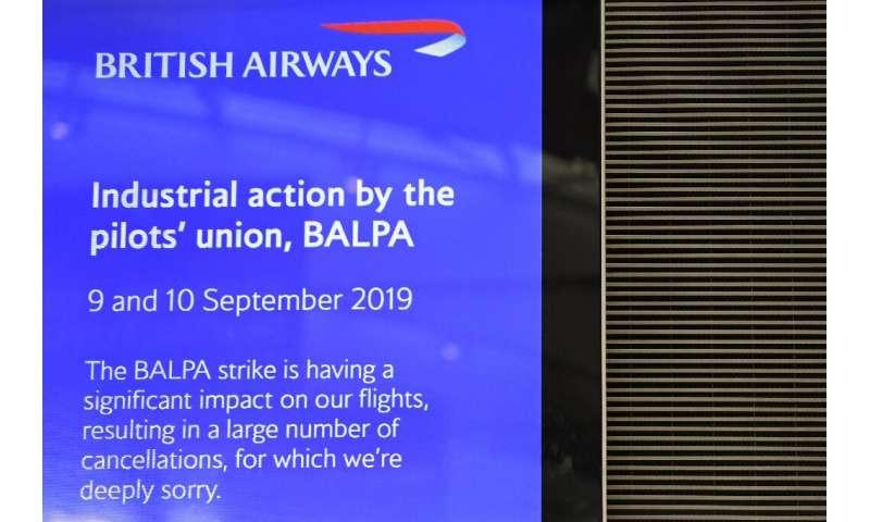 British Airways pilots' strike enters second day