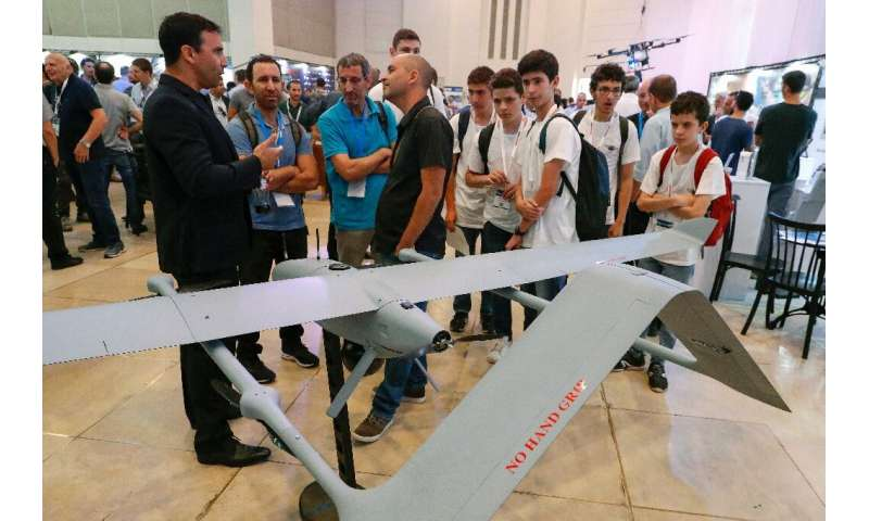 BlueBird's WanderB is an Israeli military drone that takes off and lands like a helicopter