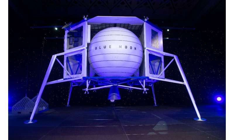 """Blue Origin, as prime contractor, would provide the """"descent element"""" vehicle based on its Blue Moon lunar lander that"""