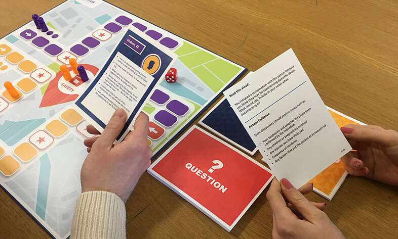 Board game launched to help health professionals support victims of domestic violence