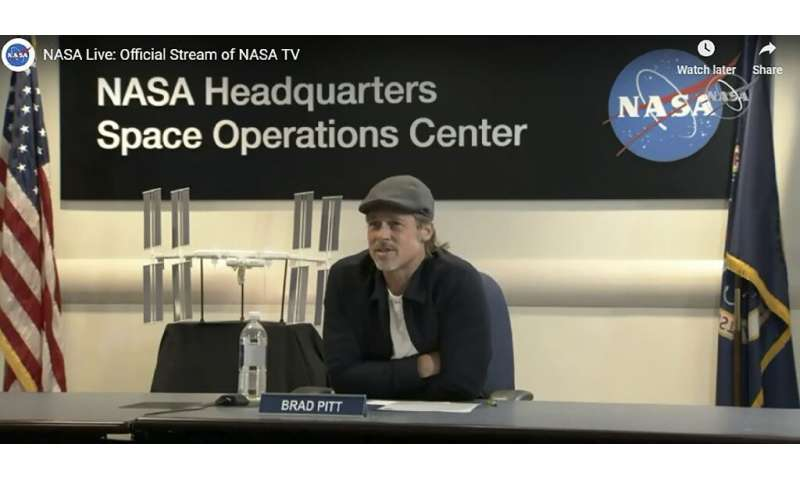 Brad Pitt had a 20-minute call with astronaut Nick Hague to discuss the unexpected effects of living in zero gravity