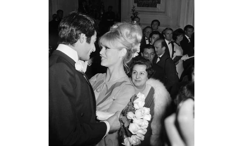 "Brigitte Bardot, seen in Paris in 1966, dubbed the landing a ""miracle"""