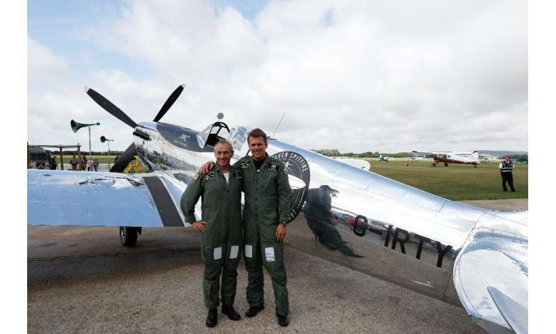 British aviators Matt Jones and Steve Brooks are taking turns at the controls