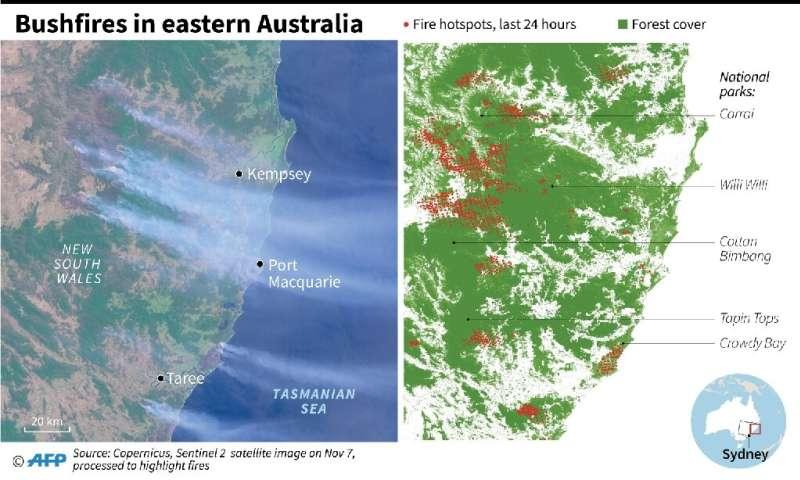 Bushfires in eastern Australia