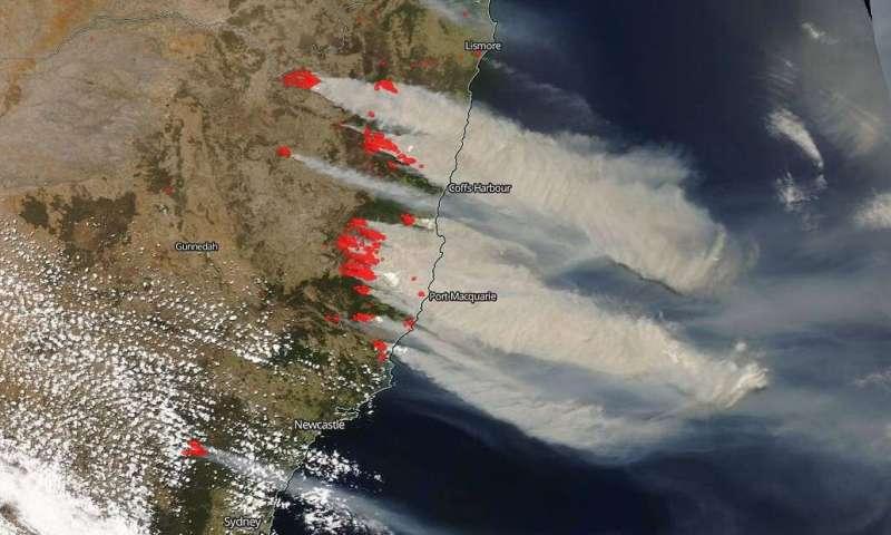 Bushfires on east coast of Australia out of control