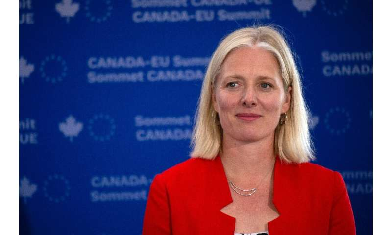Canadian Environment Minister Catherine McKenna pledged that the country would achieve net zero carbon dioxide emissions by 2050