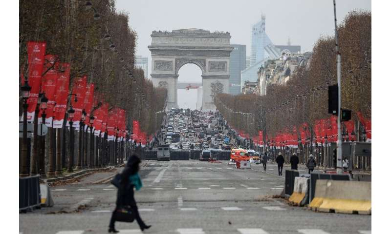 Celebrations in Paris, which usually focus on the Champs Elysees, are likely to be muted due to a gruelling transport strike