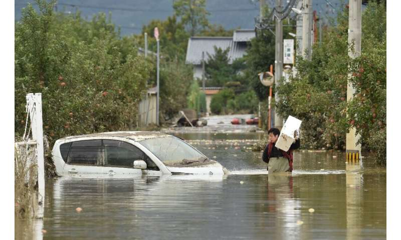 Central Japan's Nagano was among the regions worst affected by power Typhoon Hagibis