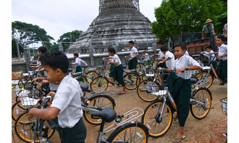 Children aged 13-16 living more than two kilometres from school will be at the front of the queue for donated bikes