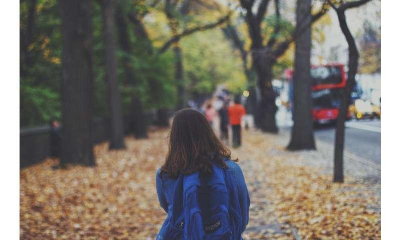 child walking school