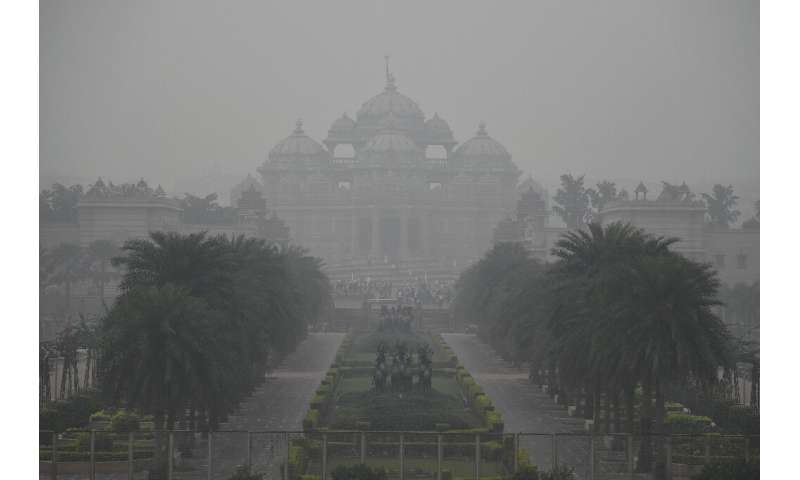 Concentrations of the most harmful airborne pollutants in Delhi are regularly about 20 times the World Health Organisation safe