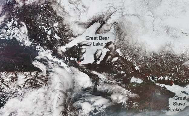 CryoSat conquers ice on Arctic lakes