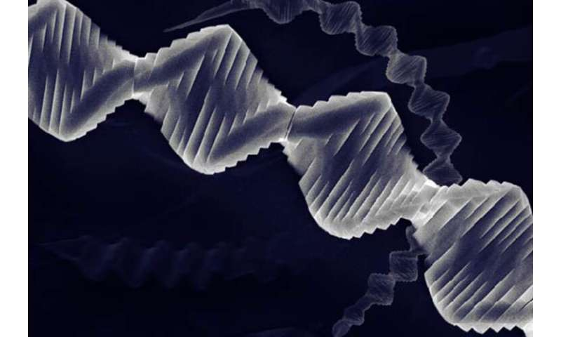 **Crystal with a twist: scientists grow spiraling new material