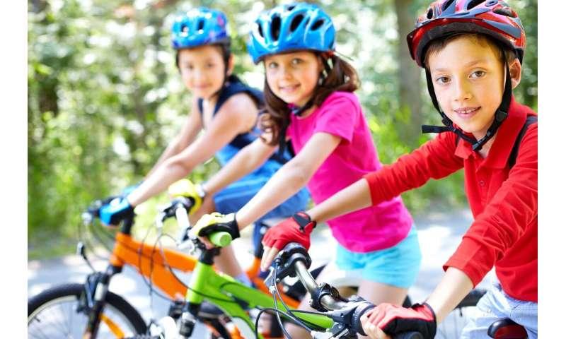 cycling children