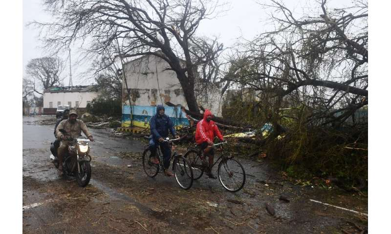 Cyclone Fani ripped down trees, power lines and damaged buildings
