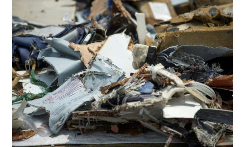 Debris found during the search for victims from the ill-fated Lion Air Flight JT 610 that crashed in October 2018—it too was a B