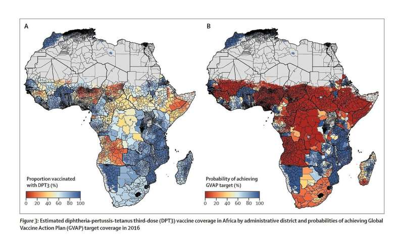 Despite years of progress, many african countries have wide variation in vaccine coverage