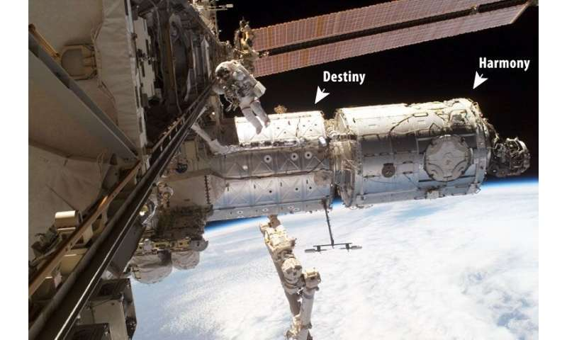 Detecting bacteria in space