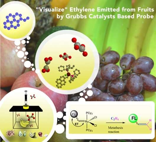 Detecting ethylene, the fruit ripening hormone