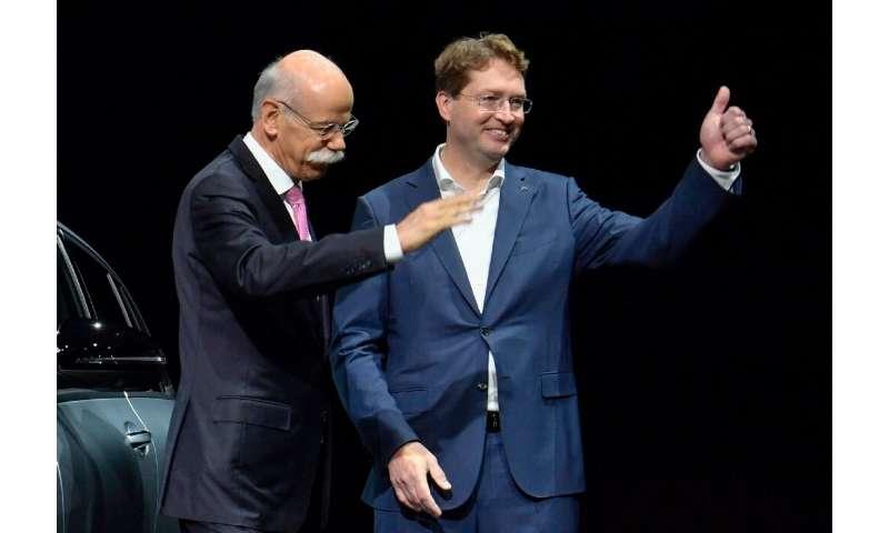 Dieter Zetsche handed over the wheel of Mercedes-Benz maker Daimler to  his Swedish successor Ola Kallenius on Wednesday