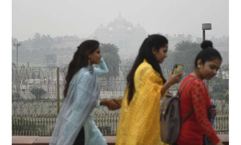 Doctors say face masks must be worn on polluted days in Delhi but many people do not, or cannot, heed the advice