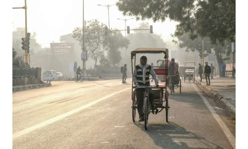 Doctors warn against strenuous exercise—which requires deeper breathing—when the pollution spikes in Delhi but the city's cycle