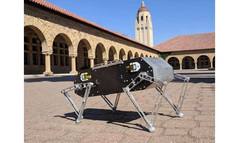 Dog-like robot jumps, flips and trots