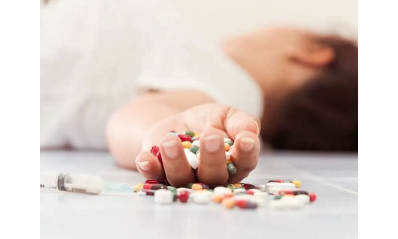 Drug overdose death rate increasing among middle-aged women