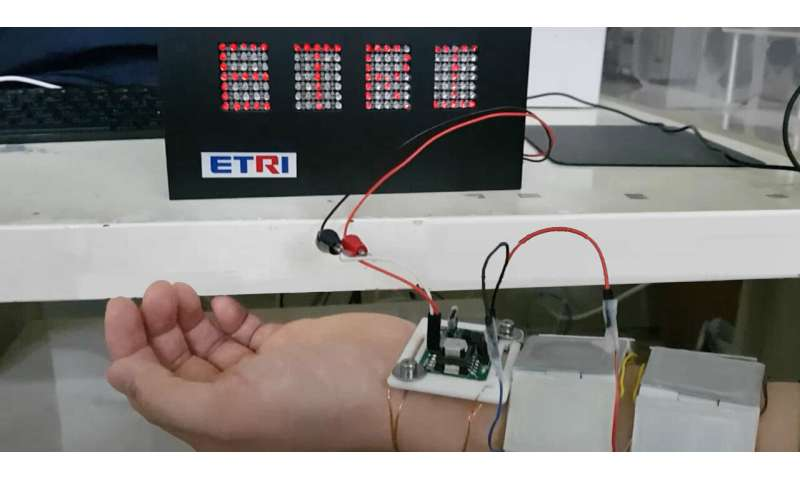 ETRI develops thermoelectric device that generates electricity using human body heat
