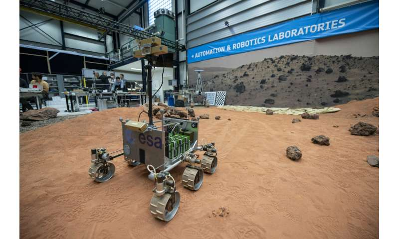 ExoMars software passes ESA Mars Yard driving test