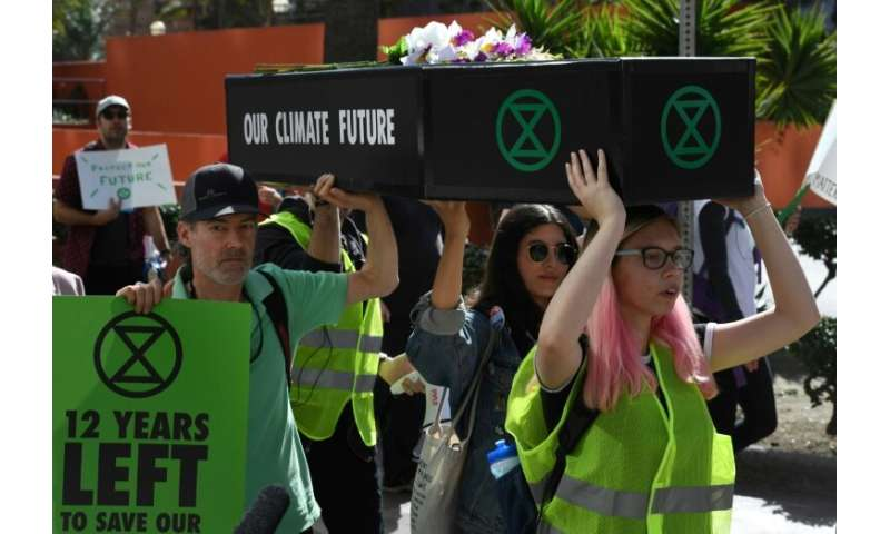 Extinction Rebellion activists say humanity should face the fact that a mass extinction event is under way on Earth, and that hu