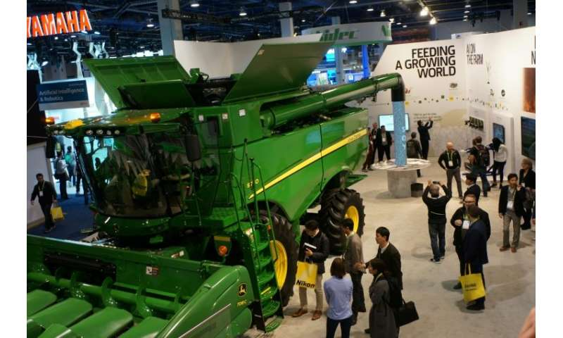 Farm equipment maker John Deere made its debut at the Consumer Electronics Show with a connected combine harvester, described as