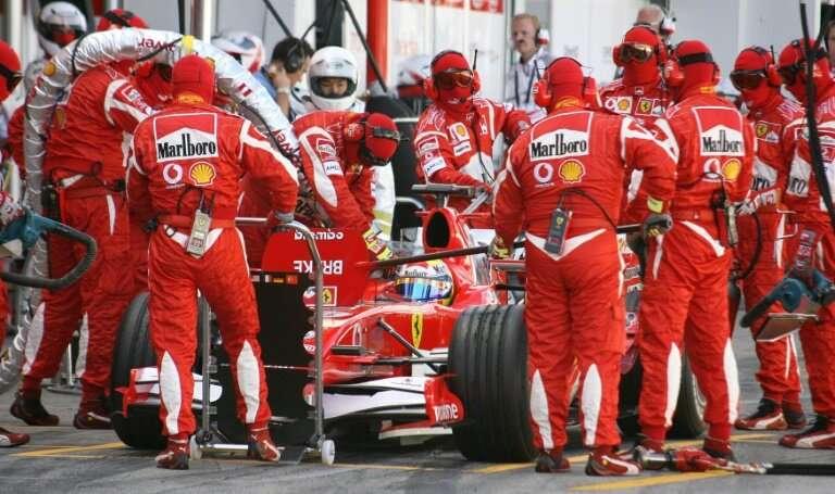 Ferrari and their prominent Marlboro sponsorship in 2006