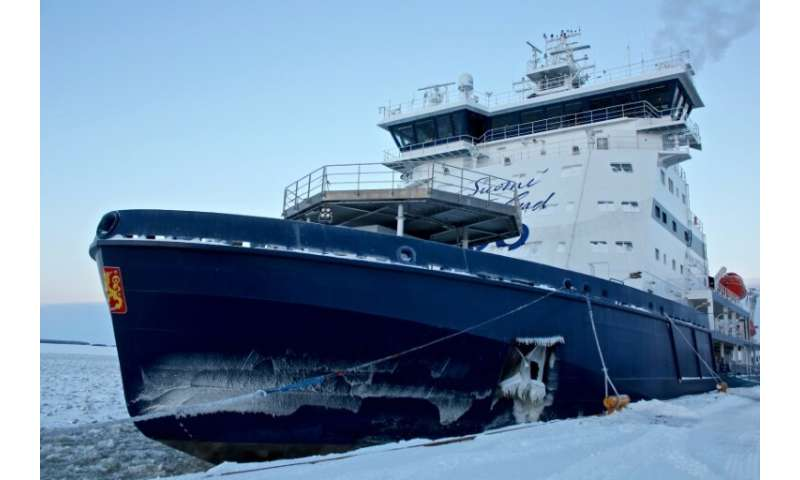 Finland's new icebreaker, Polaris, is the world's first to run on liquefied natural gas (LNG)