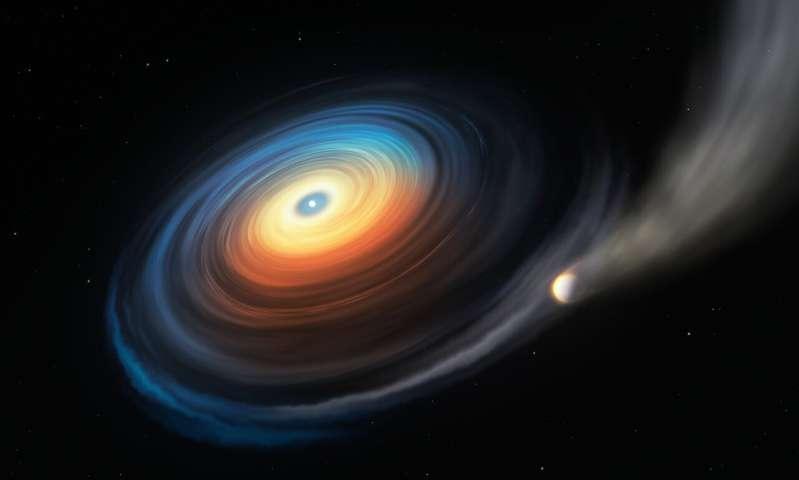 First giant planet around white dwarf found