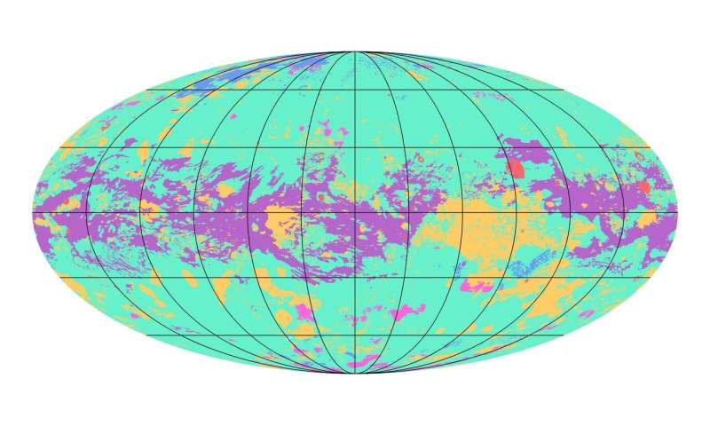 The first global geological map of Saturn's largest moon, Titan, is completed
