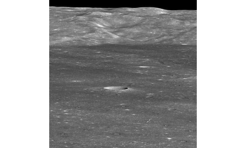First look: Chang'e lunar landing site